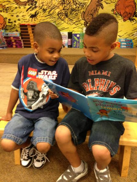 two boys reading MOOD